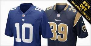 25% off all Adult jerseys at the NFL Europe Shop - £52.50