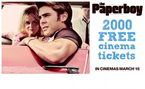 Free cinema tickets the paperboy @ student money saver via facebook