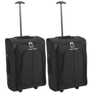 2 X KARABAR FLIGHT CABIN CASES - *RYANAIR SAFE* - 3 YR GUARANTEE - £24.90 DELIVERED = £12.45 EACH DELIVERED  - AMAZON