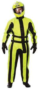 Motor Cycle Waterproofs - Oxford Bone Dry High Viz Oversuit Yellow/Black £25.99 Delivered @ M & P