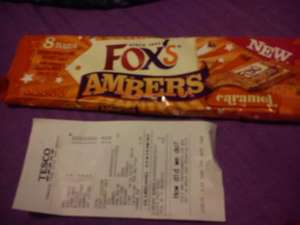 Tesco: Fox's Ambers biscuits 25p at Tesco