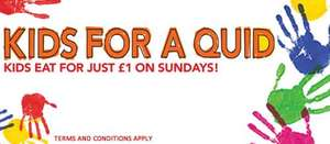 Kids eat for a Quid on Sundays @ Slug & Lettuce