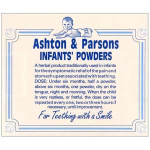 Ashton & Parsons Teething Powder @ TheHealthCounter.com £6.25 + £2.95 P&P