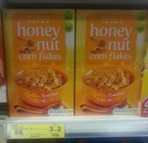 3 x boxes of  Tesco Honey Nut Corn Flakes 500g  (Own Brand Crunchy Nut) £1.72 at Tesco Express