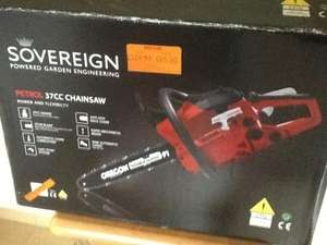 Sovereign 37cc petrol chainsaw down from £109 to £60 @ Homebase Horsham Branch.