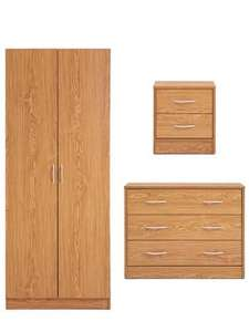 Barcelona Wardrobe, 3-drawer Chest and Bedside Cabinet only £87.00 + £6.95 Del @ very