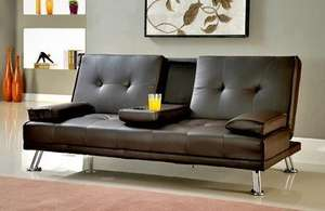 Contemporary Three-Seater Sofa Bed in Choice of Shades for £139 With Free Delivery (65% Off) @ Groupon - GRS Global