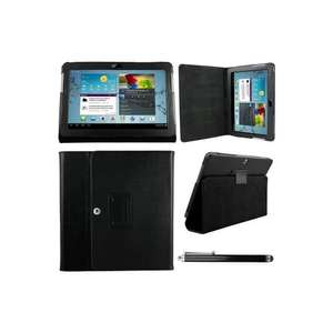 Samsung Galaxy TAB 2 10.1 P5100 Black Leather Case Wallet  Plus Free ProPen Stylus Pen, £10.95 from iBox Ltd/Fulfilled by Amazon