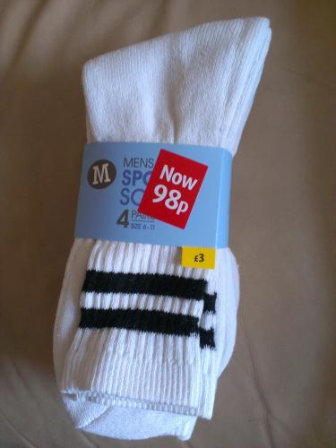 Mens socks 4 pairs 98p @ Morrisons