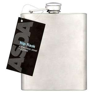 ASDA Stainless Steel Hip flask 200ml £2.50 ASDA Reserve And Collect
