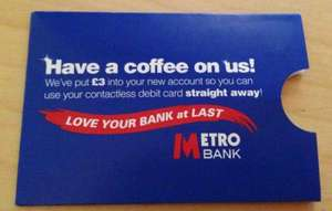 Free coffee at Metro Bank - £3 in your account for free