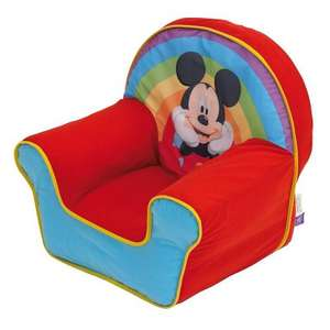 Mickey Mouse Cosy chair £11.25 Delivered At AsdaDirect with code  (disney princess & spiderman too)