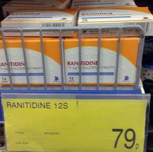 Ranitidine 75Mg Indigestion Tablets X12 79p @ B&M stores