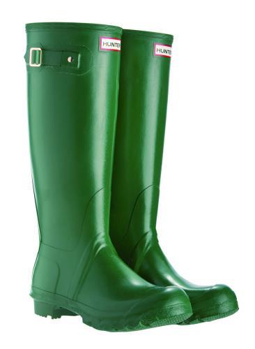 Hunter Originals Green Wellies > Free Delivery @ JAVARI