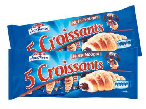 5 Maitre Jean Pierre Hazelnut Creme Croissants 49p @Lidl