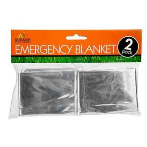 Twin Pack of Emergency Blankets - £1 at Poundland