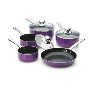 Seasons 5 piece Non-stick Pan Set (Purple) £23.94 delivered @ Viners