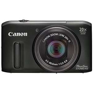 "Canon PowerShot SX240 HS Digital Camera, HD 1080p, 12.1MP, 20x Optical Zoom, 3"" LCD Screen, Black - £159.95 with 2 year warranty at John Lewis"
