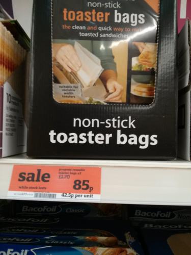 Non stick Toaster bags 85p instore @ Sainsburys