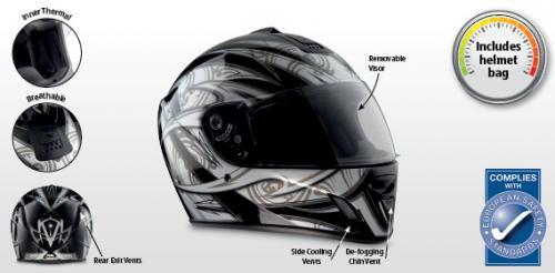 Motorcycle Helmet. £29.99 @ Aldi