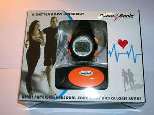 PULSE SONIC HEART RATE MONITOR WATCH&CHEST STRAP:: £11.99 :::Free PnP @ ebay dolphin1856