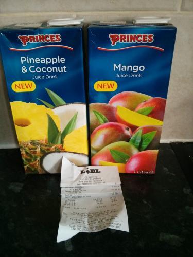 Princes fruit juice drinks £0.79 at Lidl