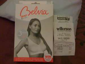 Belvia Bra reduced to £3.24 in Wilkinson Stores