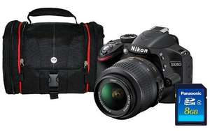 Nikon D3200 Black SLR Camera Kit inc 18-55mm VR Lens, 8GB SD Card and Case £398.05 Asda Direct - 2 year warranty and now £40 Cashback from Nikon £358.05