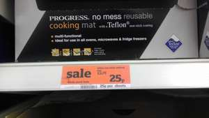 Progress Teflon No Mess Reusable Cooking Mat; was £3.75 now 25p @ Sainsbury's Calcot