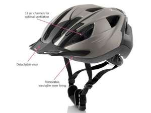 Adults' Cycling Helmet with Rear Light £9.99 from 21st March @ Lidl