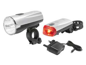 Rechargeable LED Bike Light Set £9.99 available from 21st March @ Lidl