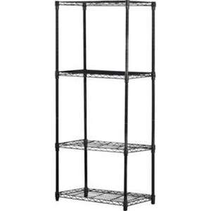4 Tier Black Powder Coated Wire Shelving.  700/1057 £19.99 @ Argos