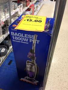 Tesco Bagless 1800w Pet Upright Vacuum Cleaner Reduced from £45 to £15 instore @Tesco