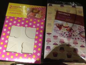 Pack of 2 cupcake boxes with inserts to hold four cupcakes £0.69 @ Sainsburys instore