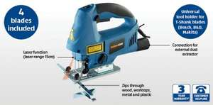 800w electric Jig Saw with laser guide and 4 blades £19.99 Aldi instore