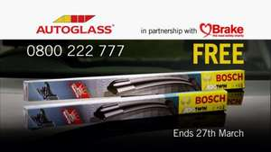 Free BOSCH wipers with every windscreen repair with autoglass