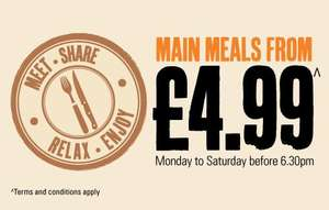 Kids Meals From Only £1 at Beefeater Grill Restaurants between 3pm and 5pm, Monday to Friday