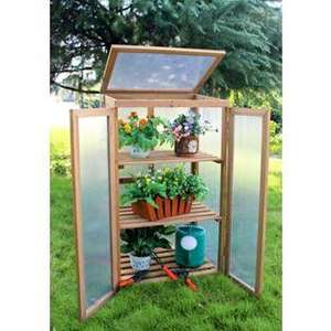 Mini Timber Growhouse Was £119.99 down to £59.99 use Code WEB20 only £47.20 @ homebase