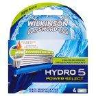 Sainsburys,Buy Wilkinson Sword Hydro 5 power select 4 razors for £9.99 get free razor worth £12.99