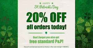 20% off AND free delivery at JML -Today Only