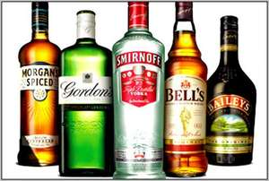 1 Litre bottles of Smirnoff / Bell's / Pimms / Morgans Spiced / Bacardi / Gordon's Gin / Famous Grouse / Baileys £14 each (from 22nd March) @ Asda