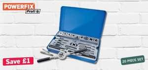 20 Piece Tap & Thread Cutter set £7.99 @ LIDL (NI) from 21 March