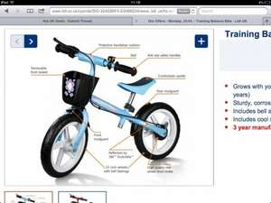Balance bike- boys&girls 24.99 at Lidl