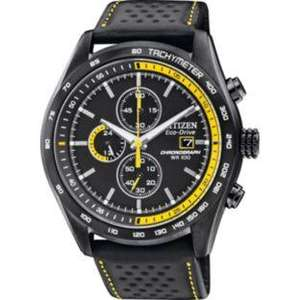 Citizen Men's Eco Sports Chronograph Watch - Black/Yellow £119.99 @ Argos