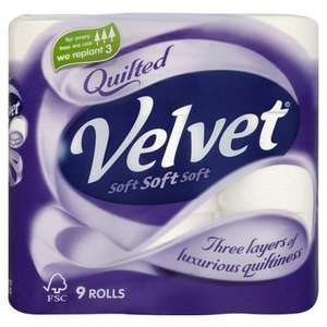 QUILTED Velvet toilet rolls 10 x 4 Packs (40 Rolls) for £10.78 at Costco!!!