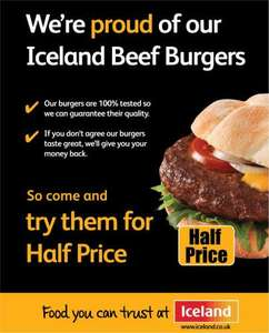 Half price!: 4 Quater Pounders @ Iceland. 50p  (FREE if you don't like them!)