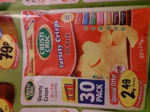 Crusti croc 30 pk assorted crisps £2.49 @ lidl from march 21 st at lidl