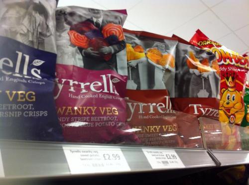 Tyrrell's new Swanky Veg crisps £2.99 @ Waitrose