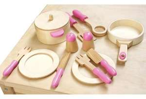 13 Piece Wooden Pots and Pans Set for £3.00 del to store @ Asda