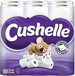 Cushelle Toilet Tissue White 18 rolls £6 @  ASDA  was £8.68